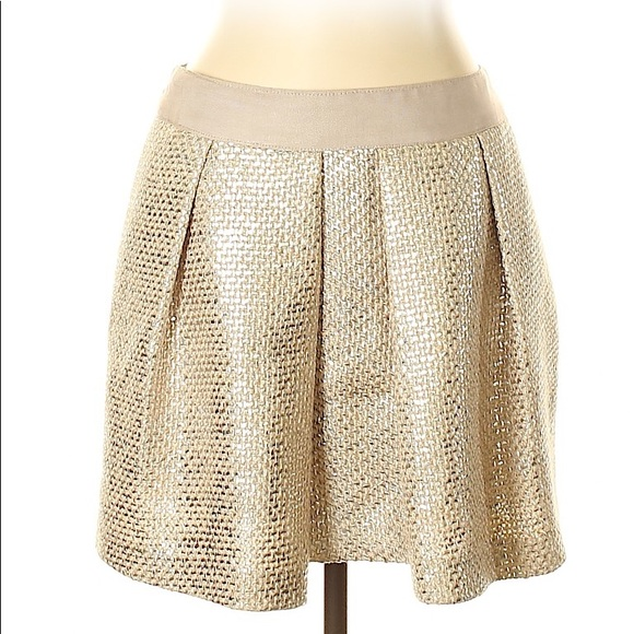 Milly of New York Dresses & Skirts - Milly formal Skirt gold mini